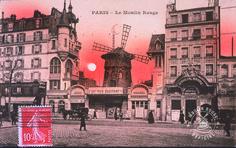 Moulin Rouge Façade 1900 Paris Vintage, Montmartre Paris, Le Moulin, Louvre, France, Flat, Paris France, 2016 Movies, You Are Wonderful