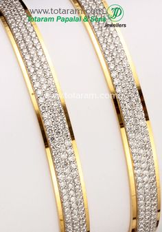 Totaram Jewelers: Buy 22 karat Gold jewelry & Diamond jewellery from India: Diamond Bangles in 18K Gold