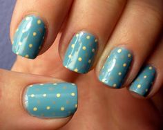 Polished #Nails #Chic #Spots #Dots #Blue