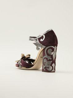 Dolce & gabbana 'biance' Sandals in Pink (pink & purple) | Lyst