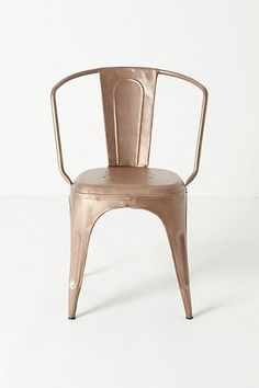 copper chair. Want.