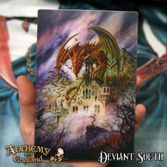 Last chance! Alchemy Gothic ASPC220 Snagov 3D Post Card  Vlad the dragon - Fantastic 3-D Lenticular moving perspective postcards featuring a range of classic Alchemy Gothic artworks.