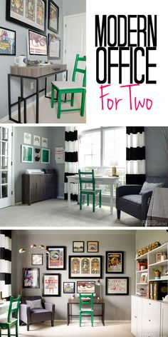 We found a way to blend our styles and create a modern home office for two that we both LOVE. Click for the full before & after tour!