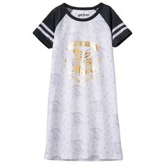 Girls 7-16 Harry Potter Hogwarts Raglan Dorm Nightgown, Girl's, Size: 14-16, White