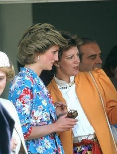 1985 06 16 Diana watching the Constantine Cup Polo Match with ex-Queen Anne-Marie of Greece at Windsor