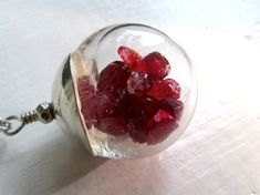 Unique Ruby Necklace : Ruby Jewelry, July Birthday Birthstone Jewelry, Stone Jewelry. $75.00, via Etsy.