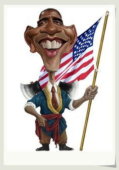 Caricature Collection: Political president Obama