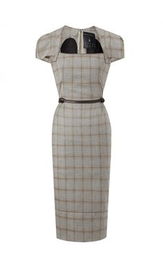 Roland Mouret Galaxy Dress in Prince of Wales check