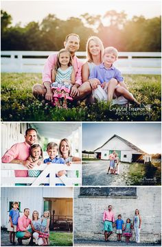 Family of Four Portrait Session Posing and Wardrobe Ideas | Harlinsdale Farms in Franklin, TN