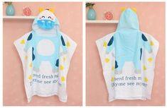bac26c3276 100% Cotton Baby Bath Towel Hooded Poncho Kids Beach Towel Wear Robe Child  Bathrobes Newborn