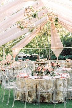 30 Elegant Wedding Decor Ideas That Will Create Chic Atmosphere - Garden party - Geometric Decor Wedding Ceiling Decorations, Tent Decorations, Quince Decorations, Geometric Decor, Geometric Wedding, Outdoor Wedding Inspiration, Wedding Ideas, Wedding Stuff, Wedding Flowers