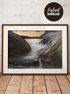 Ocean & Sunset Landscape Printable Photography for Wall Decor, Photo Art Print, High Quality Large Landscape Photography Wall Art Ocean Photography, Landscape Photography, Some Beautiful Images, Printable Pictures, Ocean Sunset, Sunset Landscape, Types Of Printing, Wall Decor