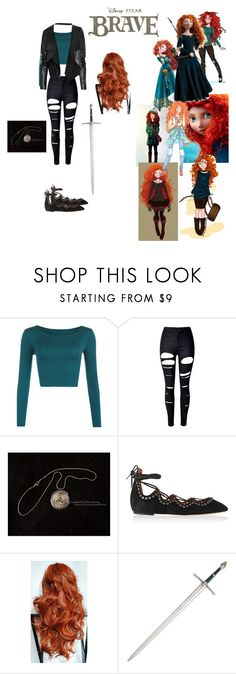 """A Modern Merida"" by andyarana ❤ liked on Polyvore featuring Merida, WearAll, WithChic, Disney, Isabel Marant, Max Azria and modern"