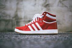 4518aa22520 Adidas Top Ten Hi - Red White Adidas Originals Tops