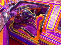 10 Wild Lowrider Car Seats - The Hog Ring | Auto Upholstery Community Very uh...colorful. lol
