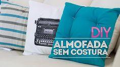 capa para almofada sem costura - YouTube