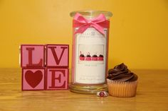 If you love the scent Endless Love by Victorias Secret, then this is the scent for you! It's a fantastic mix of fruit & floral on a background of musk & vanilla. Every lady should have this candle on their mantle ! On top of that it's pretty and pink and has a yummy cupcake in the picture hehe, what more could ya want? A wonderful candle and a yummy cupcake! Ok, well cupcakes not included but the candle sure is great! Pick up yours today before their all gone=)