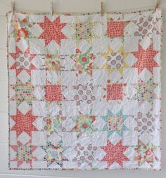 Ainsley Star Quilt Finished, by Melanie Ham Designs