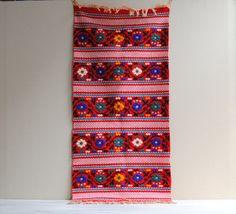 Vintage Floral Embroidered Runner Textile / by LittleDogVintage