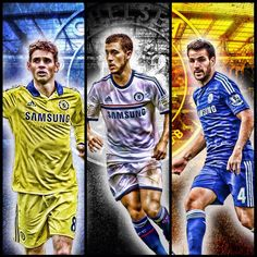 Eden Hazard w/friends Oscar & Cesc Fàbregas ~ Chelsea FC