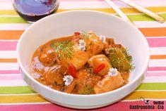 Curry de pollo y shiitake