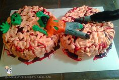 Zombies Eating Brains Cake... Coolest Birthday Cake Ideas