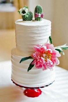 Bride Groom Cake Toppers Cactus Cakemexican Themed