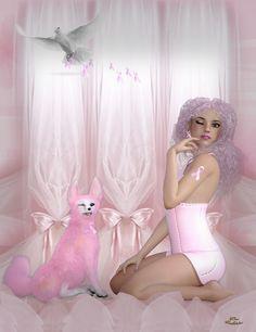 Pink is the word winkby Freethinker56 #breastcancerawareness #thinkpink #pinkribbon #freethinker56 #pink #renderosity