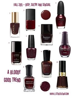 obsessed with oxblood nails right now