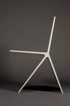 Concrete chair by Omer Arbel via via design design industrial