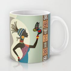 Woman painting abstract art paintings and art women on for High end coffee mugs