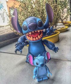 Lilo has found his little brother :) #disney #revoltech #liloandstitch #lego #legominifigures