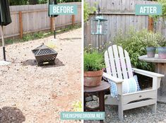 The Inspired Room blog Backyard Before and After