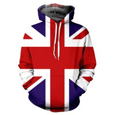 Union Jack Hoodie by Yo Vogue Clothing - This beautiful hoodie is made with an extremely soft garment using HD Photographic Printing Technology. The fine mixture of polyester and cotton allow us to print high definition images and create unique, fresh and innovative products. Just $69.95