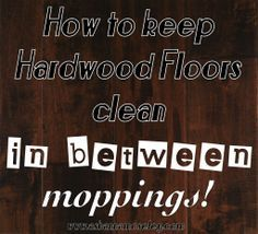 How to keep hardwood floors clean between mopping- Ask Anna