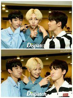Doki Dokyeom, Cheonsa Jeonghan, and his baby Dino Chan! Cute af . <3 170618. #Seventeen #2017 Dispatch choco.co