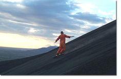 Surfing at the Cerro Negro volcano @ Nicaragua!!