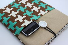 iPad Case, iPad Sleeve with pockets - X Patterns - iPad Cases / iPad-Hülle, iPad Tasche, iPad Sleeve by FA2U_DESIGNS - Tablet PC Cases - Laptop & Tablet PC - DaWanda