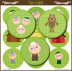 3 pigs clip art