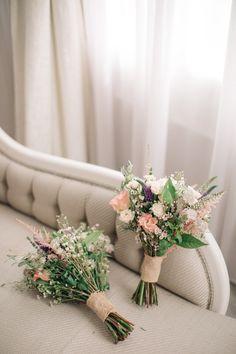 Romantic Bridal Bouquets by Ruby & Grace Florist | Elegant, Pastel Wedding at Hedsor House, Buckinghamshire | M & J Photography | Shoot It Yourself Films