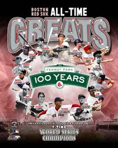Boston Red Sox ALL-TIME GREATS 14 Legends Commemorative Poster Print~available at www.sportsposterwarehouse.com