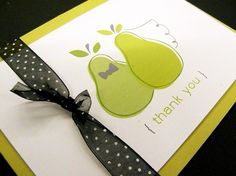 """the """"perfect pair (pear)"""" thank you cards"""