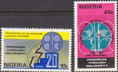 Nigeria 1980 OPEC Fine Mint As SG 410 1 Scott 389 90 Other British Commonwealth Stamps for sale Here