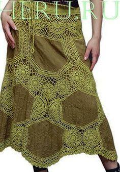 Moda Crochet, Crochet Yoke, Crochet Skirts, Crochet Fabric, Freeform Crochet, Crochet Blouse, Filet Crochet, Crochet Clothes, Knitting Stiches