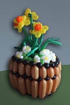 Flower Bouquet/ Canasta de Flores/ Balloons/ Globoflexia