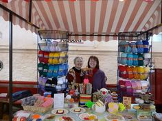 Buy your yarn for knitting projects, or buy some unique knitted items, boiled eggs seem to be popular! Come along and talk to Twitknits at Bideford Pannier Market, North Devon.