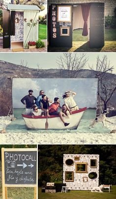 Ideas originales coctel fotomaton photocall