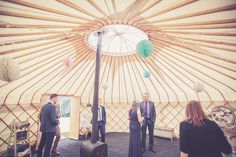 Sian and Jamie's wedding in our 22ft yurt at The Cheerful Chilli Barn, Otley. Maisy Carr Photography. www.yorkshireyurts.co.uk