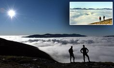 Stunning views across Lake District valleys for early morning walkers