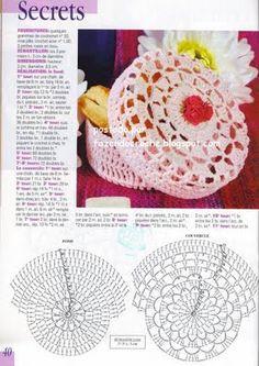 - Diversamente Crochet By MaryRose Crochet Motifs, Crochet Stitches Patterns, Crochet Diagram, Thread Crochet, Crochet Doilies, Crochet Yarn, Crochet Basket Tutorial, Crochet Bowl, Confection Au Crochet